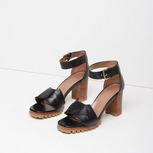 Marni Obi Ankle Strap High Sandals Size 8.5 Black